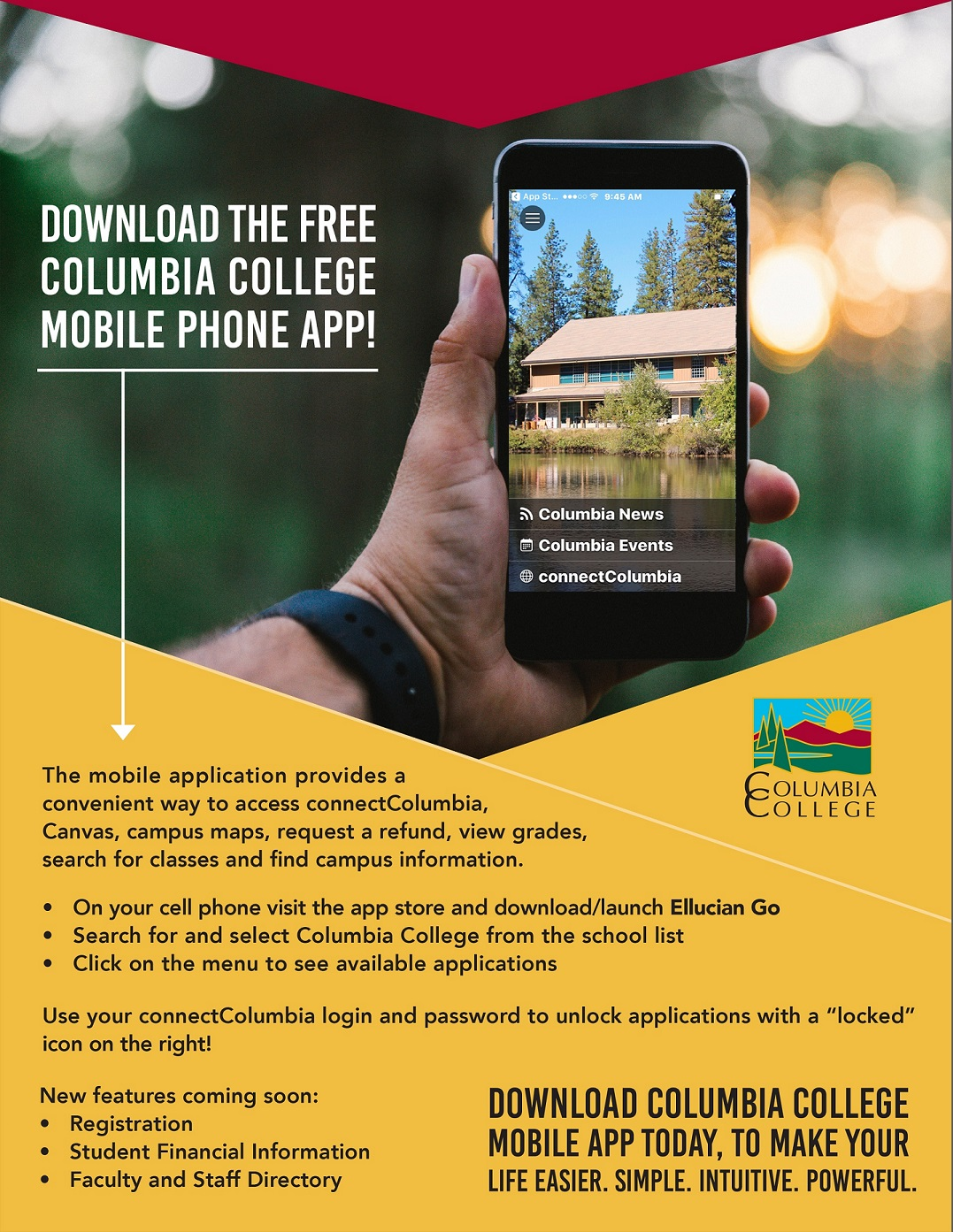 download the free columbia college mobile phone app columbia
