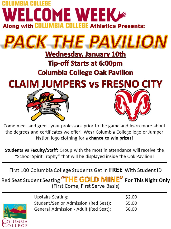 Welcome Week Flyer - Pack the Pavilion