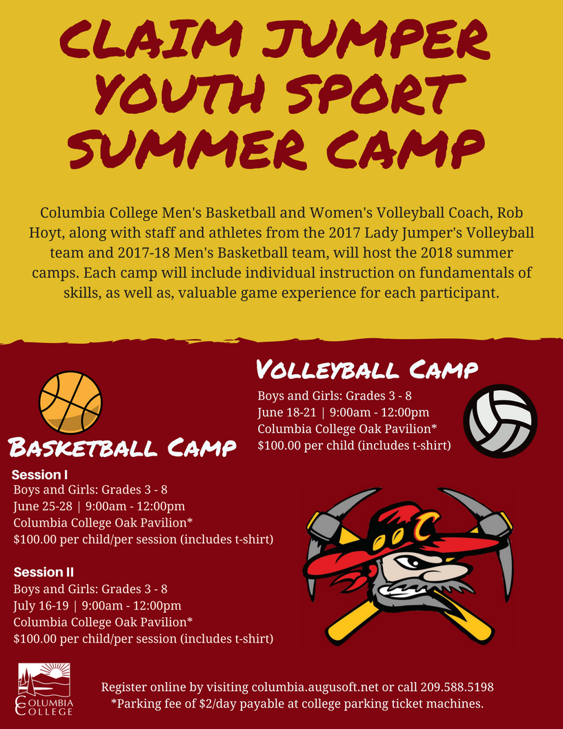 2018 Summer Camp Poster