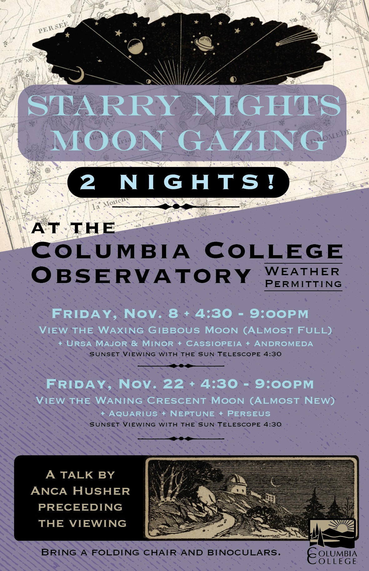 moon gazing flyer