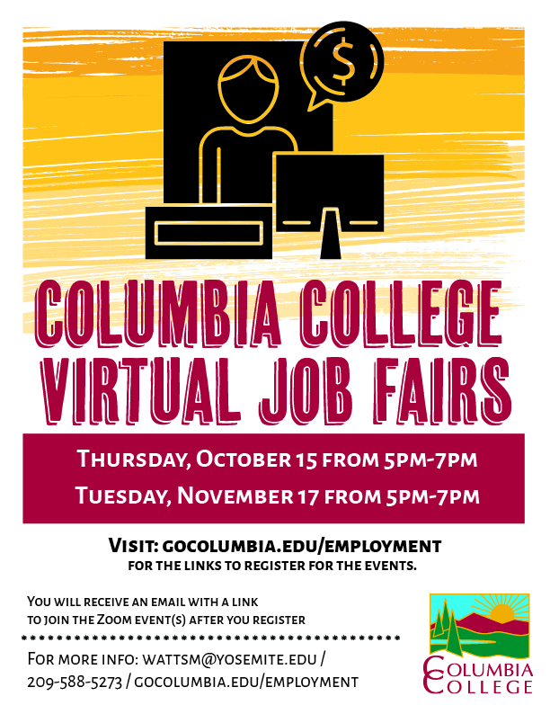 virtual job fair flyer