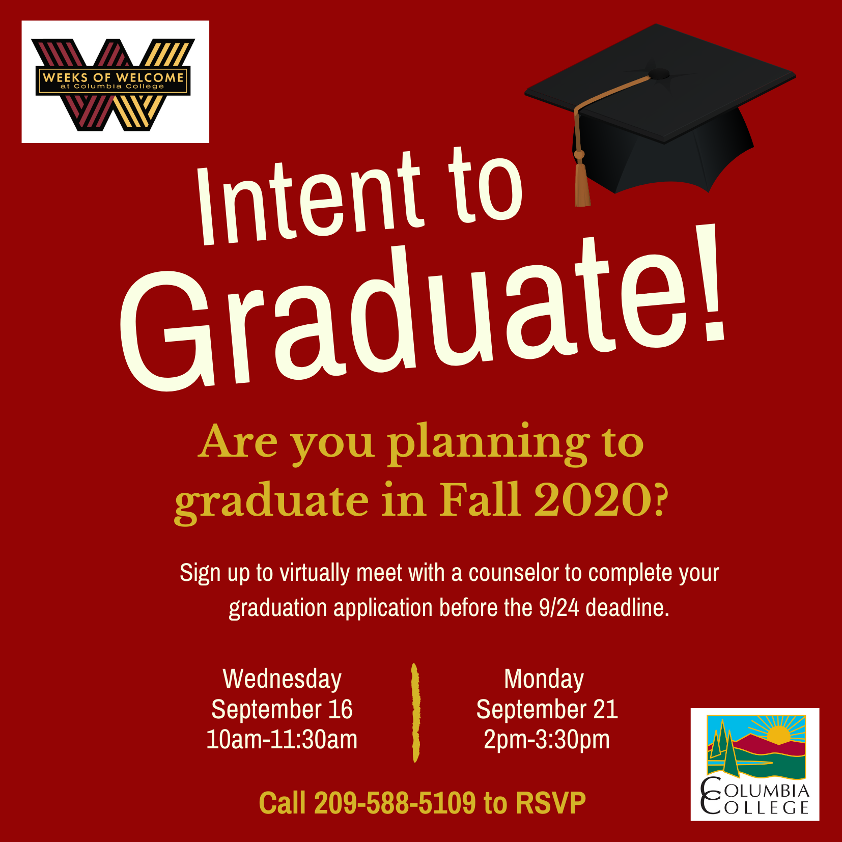 Intent to Graduate Flyer 09.2020