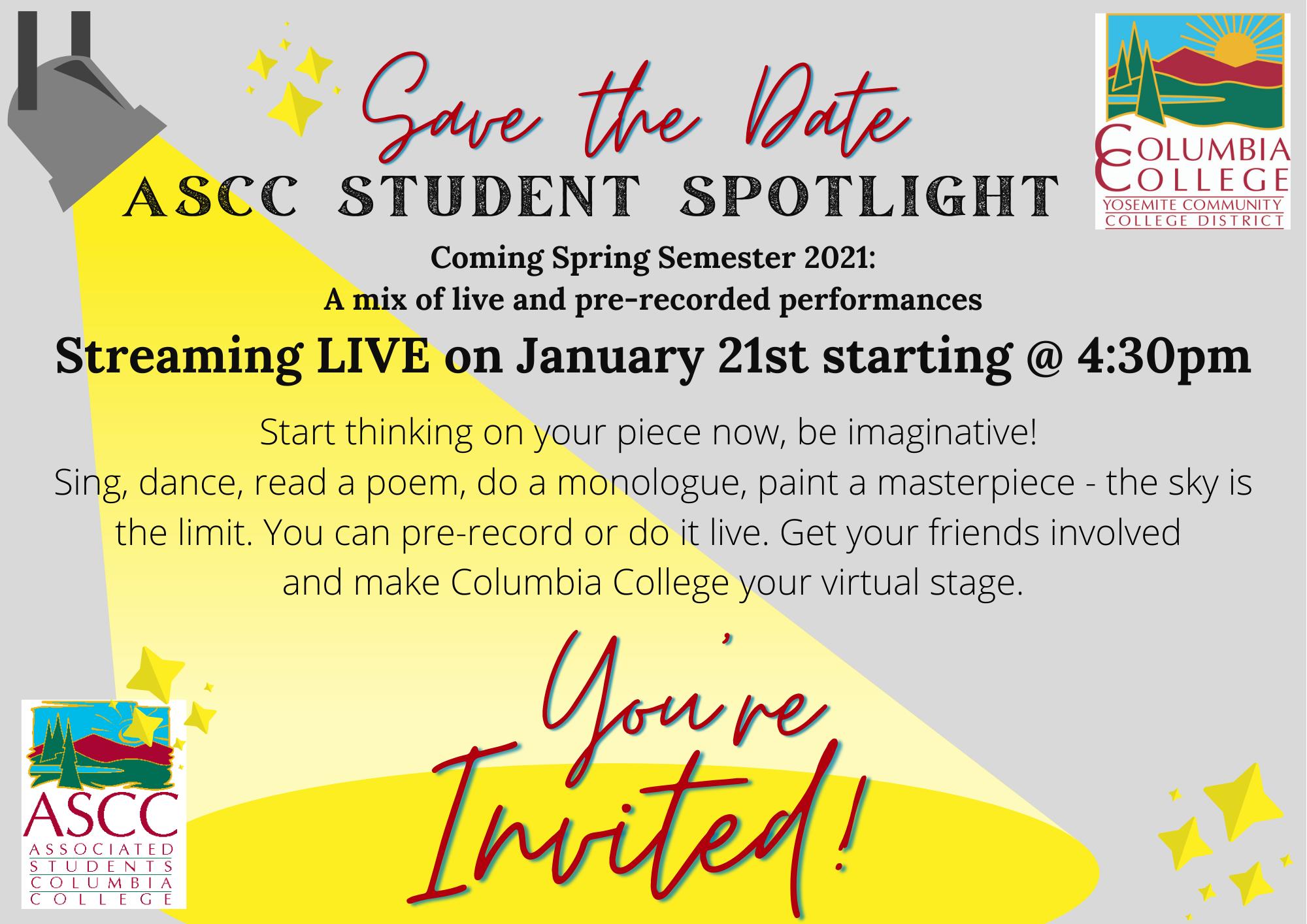 Student Spotlight Save the Date